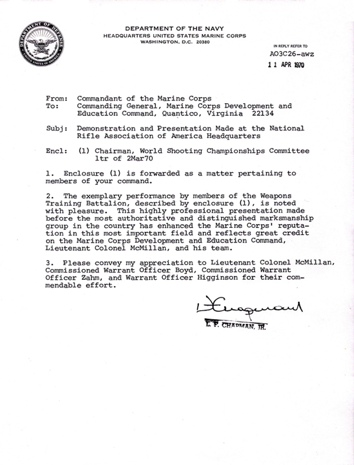 April 4 1970 letter of appreciation u s marine corps letter of appreciation return document document document spiritdancerdesigns Image collections